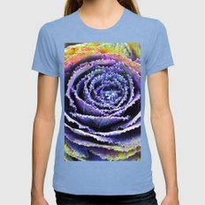 ABSTRACT BLOSSOM Womens Fitted Tee Tri-Blue SMALL