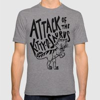 The Attack of Kitty-o-Saurus! Mens Fitted Tee Tri-Grey SMALL