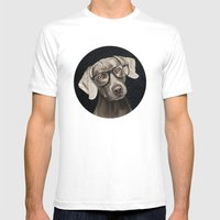 Mr Weimaraner Mens Fitted Tee White SMALL
