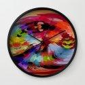 Tornado Colors by Nico Bielow Wall Clock
