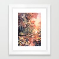 Sunset Forest Framed Art Print