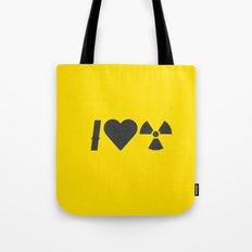 I Love Radiation Tote Bag