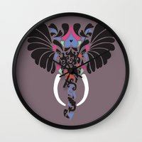 Asian Elephant Wall Clock