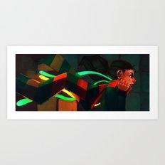 Scarfed Art Print