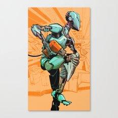 Machine Runner Canvas Print