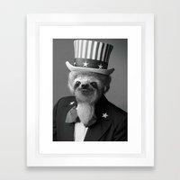 Life As An American Slot… Framed Art Print