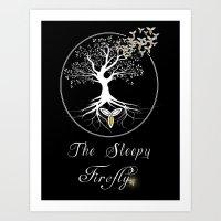 Sleepy Firefly Art Print