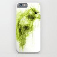 iPhone & iPod Case featuring Splatter Bird Green by Derek Salemme