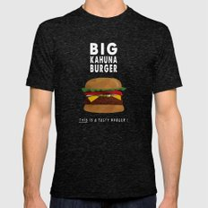 Pulp Fiction - big kahuna burger Mens Fitted Tee Tri-Black SMALL