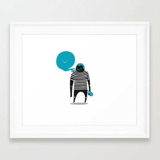 Do what makes you happy Framed Art Print