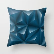 Blue Power Throw Pillow