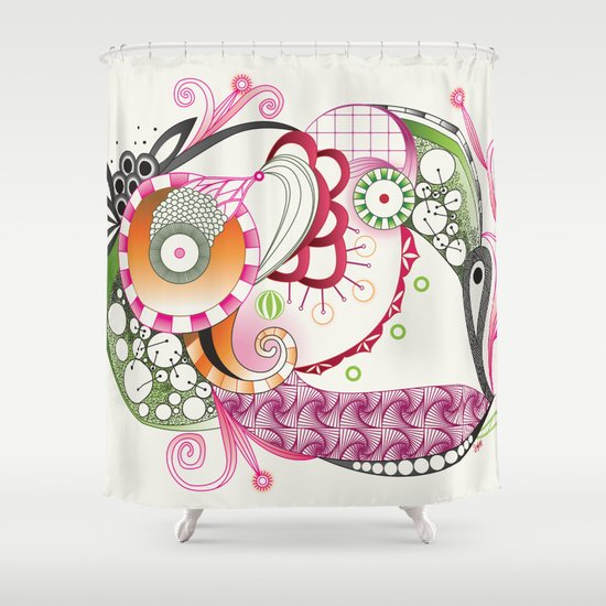 Autumn tangle Shower Curtain