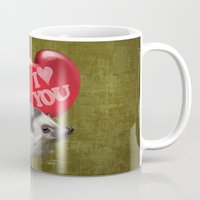 Hedgehog In Love With A … Mug
