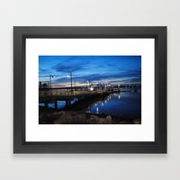 Boardwalk Night Framed Art Print