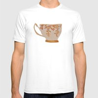 Teacup Mens Fitted Tee White SMALL