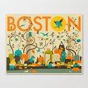 WILD BOSTON Canvas Print
