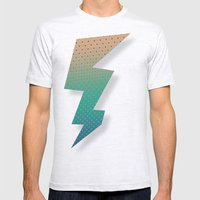 Polka Plankton Blue Mens Fitted Tee Ash Grey SMALL