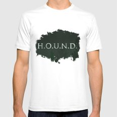 No. 5. H.O.U.N.D. White Mens Fitted Tee SMALL