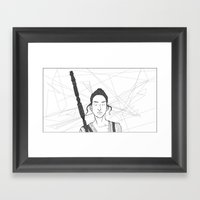 The Force Awakens  Framed Art Print