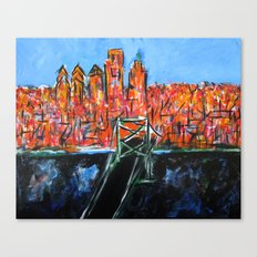 Philly Skyline view from NJ Canvas Print