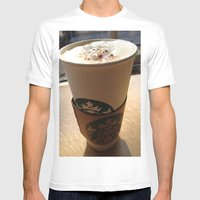 Starbucks Mens Fitted Tee White SMALL