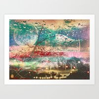 Rainy Day Window Art Print