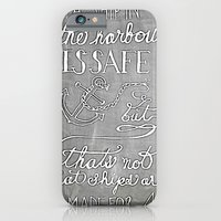 Chalkboard hand-lettered motivational quote iPhone 6 Slim Case