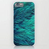 Teal Feathers iPhone 6 Slim Case