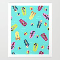 Pool Party Art Print