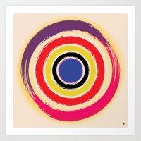 Compass Brush Art Print