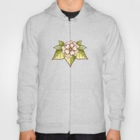White Flowers Hoody