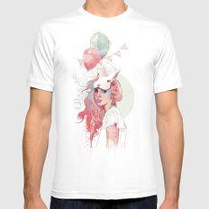 Sweet Party SMALL White Mens Fitted Tee