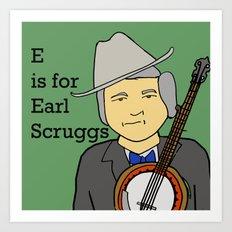 Earl Scruggs Art Print