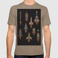 Rockets! Mens Fitted Tee Tri-Coffee SMALL