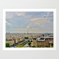 The View from Notre Dame Art Print