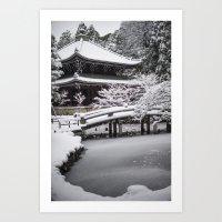 Kyoto Winter 2015 Art Print