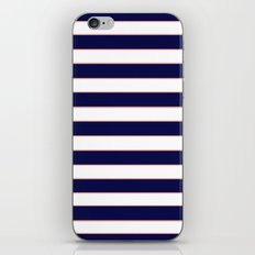 Double Stripes (Navy & Coral) iPhone & iPod Skin