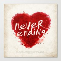 never ending love Canvas Print