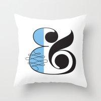 Ampersand White Throw Pillow