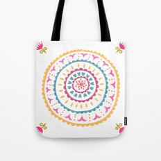 Suzani inspired floral 2 Tote Bag