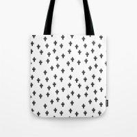 Catctus Black On White Tote Bag