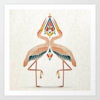 Couple Of Birds Art Print