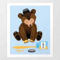 The Honey Bear Art Print