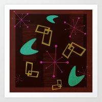 Bachelor Pad Royale Atomic Design Art Print