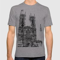 Westminster Abbey  Mens Fitted Tee Athletic Grey SMALL