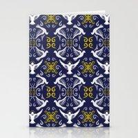 Doves Patterns Stationery Cards