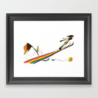 The Ski Jumper Framed Art Print