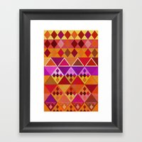 Fire Diamond Pattern Framed Art Print