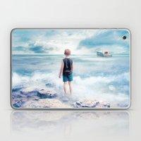 Waiting at the water's edge Laptop & iPad Skin