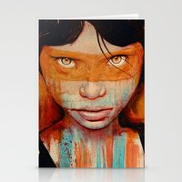 portrait Stationery Cards featuring Pele by Michael Shapcott